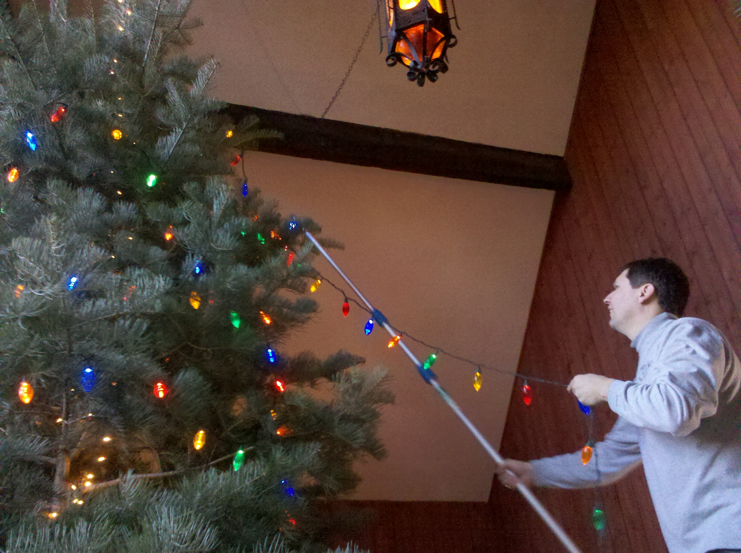 Decorating Tree Extension Pole Duct Tape Hook Ladder