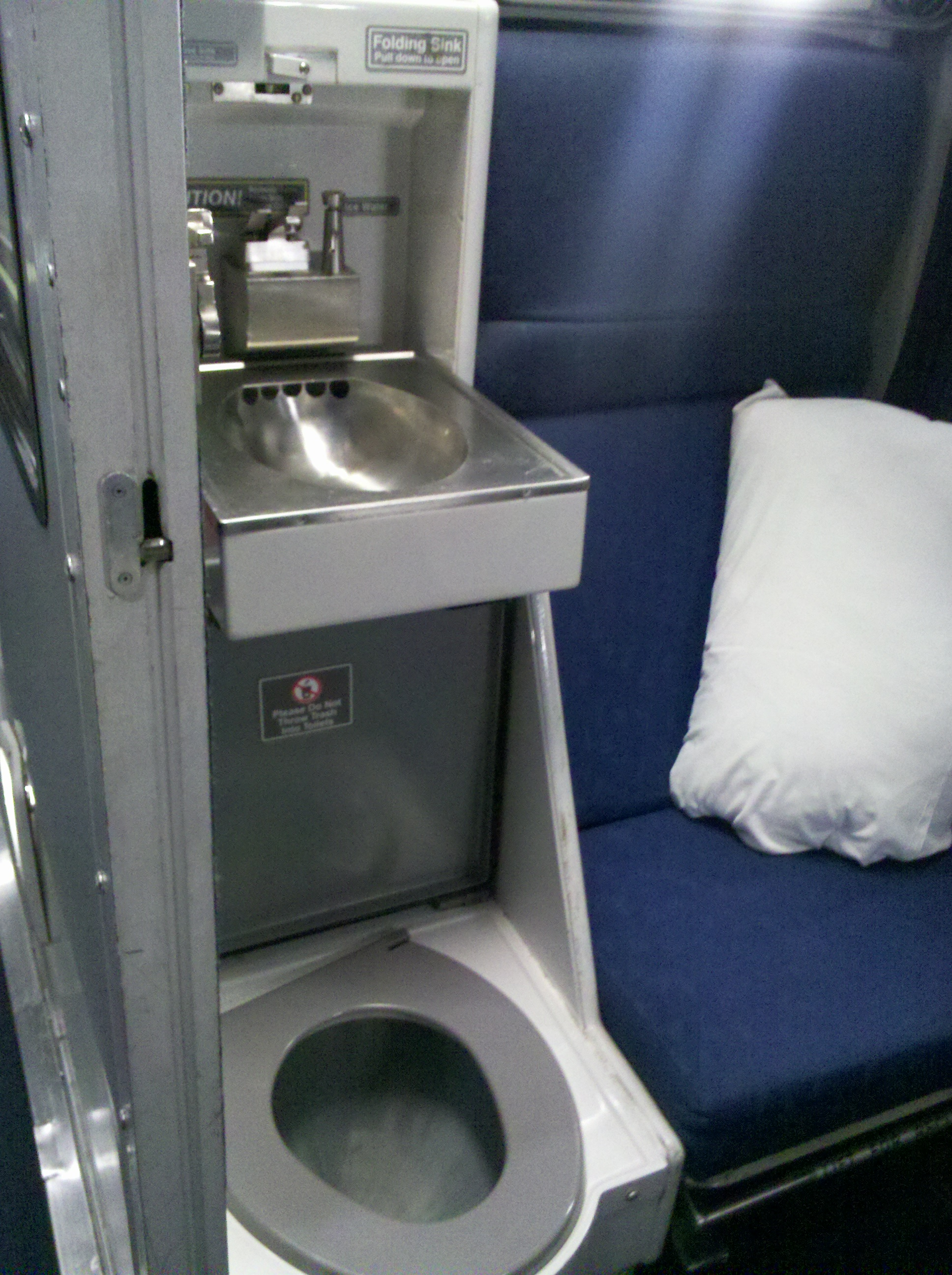 Roomette Toilet Sink Viewliner Amtrak Train Marla Sink
